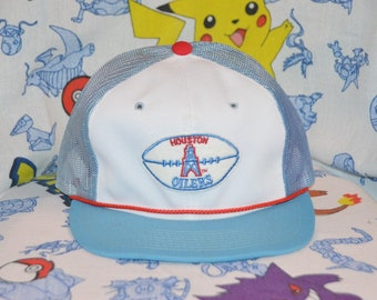 cec8446b1af67 Vintage 1980 s Houston Oilers Snapback! Retro Sports Specialties NFL  Football Youngan Trucker Hat!
