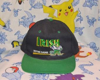 8f7c7ff9 Vintage 1990's Notre Dame Fighting Irish Snapback!!! ND NCAA Hat!!!