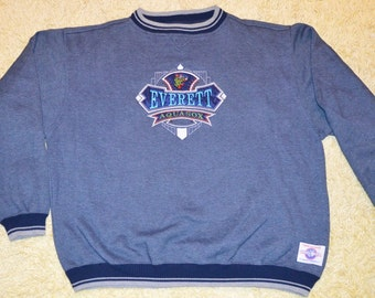 28497224f59 Vintage 1990s Everett Aquasox Minor League Baseball Sweatshirt!!! Stitched  Embroidered Washington Crewneck!!!