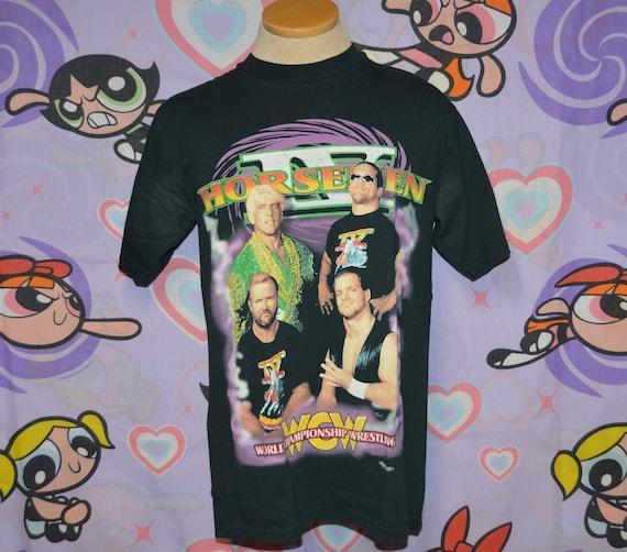 Vintage 1990's WCW Four Horsemen Wrestling Shirt!!