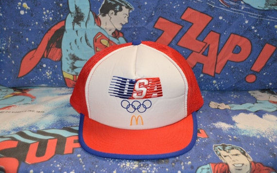 Vintage 1980's McDonalds Team USA Olympics Trucker