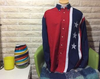 Vintage 1990's Tommy Hilfiger American Flag Oxford!!!