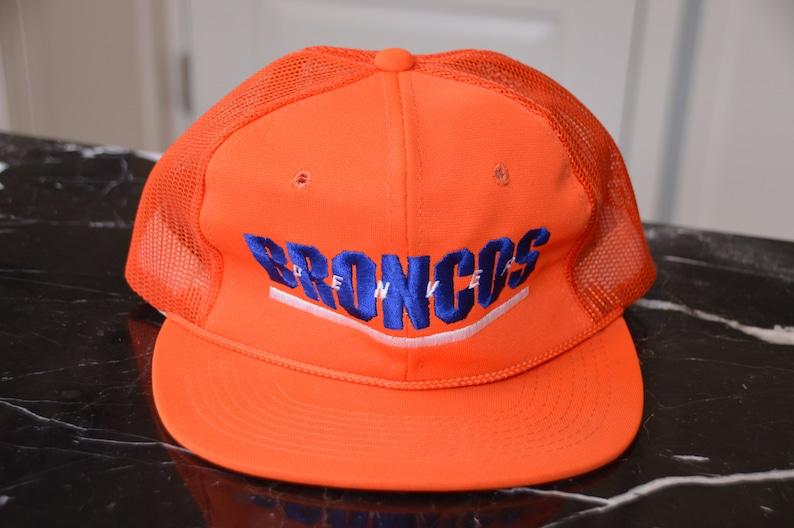 cd159db2 Vintage 1980's Denver Broncos Trucker Hat Snapback! Retro Sports  Specialties Mesh NFL Hat!