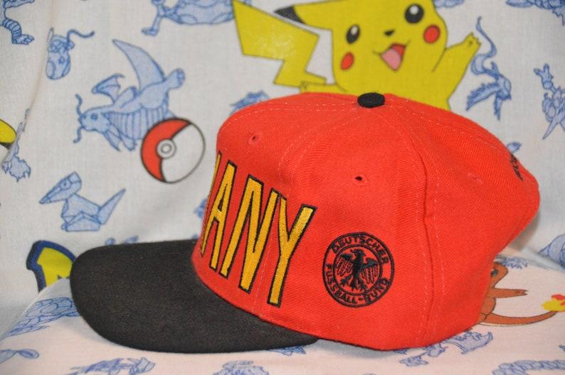 6b99042c89de5 Vintage 1990s Germany Adidas World Cup Snapback!!! 90s Soccer Hat!!!