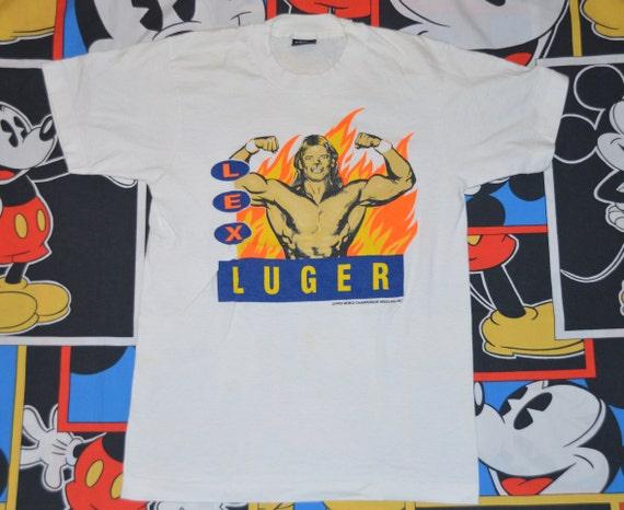 Vintage 1990's WCW Lex Luger Wrestling Shirt!!! 90