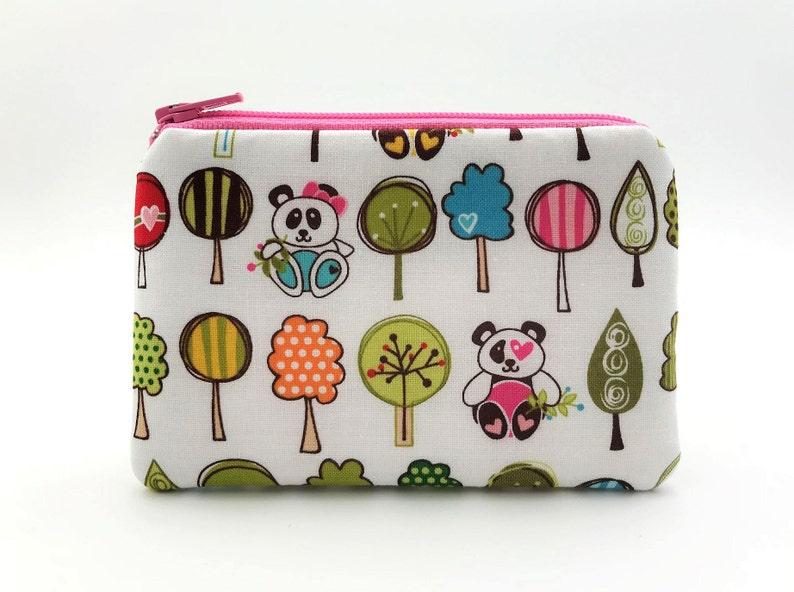 Panda Coin Purse Panda Bear Animal Pouch Mini Zipper Pouch Cute Coin Pouch Wallet Gift for Girls Panda Bear Gifts