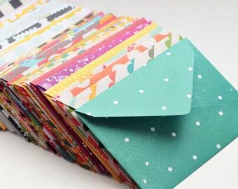 Assorted Mini Cards // Blank Cards // Gift Card Envelopes // Mini Envelopes // Love Notes // Advice Cards // Patterned Envelopes // Favors