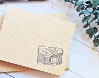 Personalised Camera Notecards Writing Set