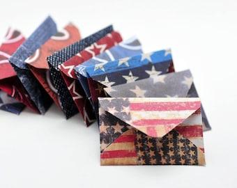 Americana Tiny Notecards // Set of 10 // Embellishment // Love Note // Decoration// Ephemera // Scrapbooking