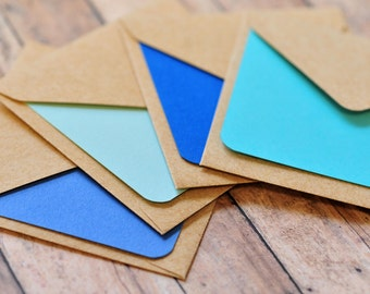 Blue Mini Cards // Blank Cards // Shades of Blue // Mini Card Set // Love Note // Advice Card // Baby Shower Favor // Advice Notes