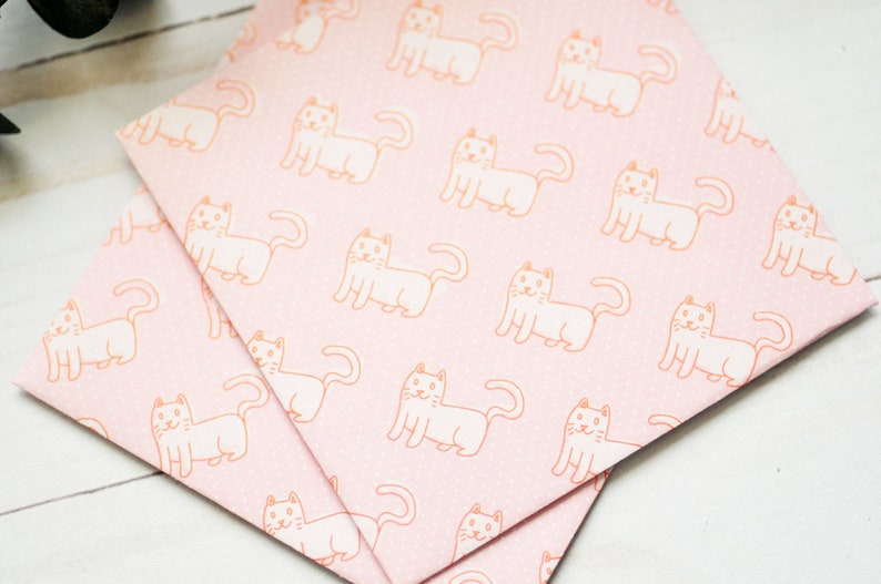 Cat Mini Cards  Mini Envelopes  Blank Cards  Kittens  Animal Note Cards  Gift Card Holder  Cat Lady  Love Notes  Kitty Cat
