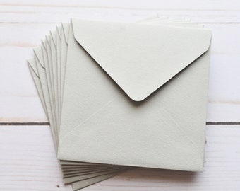 Mini Envelopes - Gray // BULK LISTING // Set of 100 // Gift Card Envelope // Business Card Envelopes // Keepsake Envelope // Advice Card