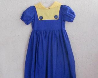 SALE 50s Baby Doll Dress . 1950s Summer Dress . Dolly Sailor Dress . Junior Preteen XXS