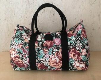 210fd9521bfd Vintage 80s Duffel Bag Mauve Pink Overnight Bag Weekender Bag Large  Deadstock