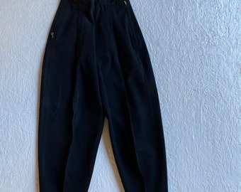 Street Wear Urban Hiphop Ribcage High Waist Ski Pants Vintage 1980s Trousers 80s New Wave Tall Girl Bright Pink Size 10 UK
