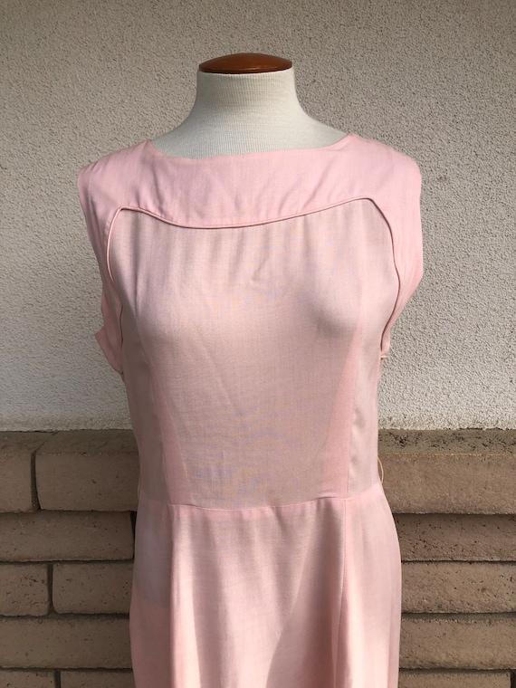 Vintage 50s Dusty Pink Dress + Lace Bolero Jacket… - image 3