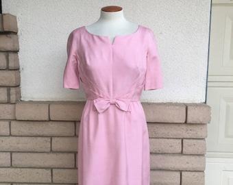 60s Dusty Rose Bombshell Dress by Alper Schwartz Size Medium