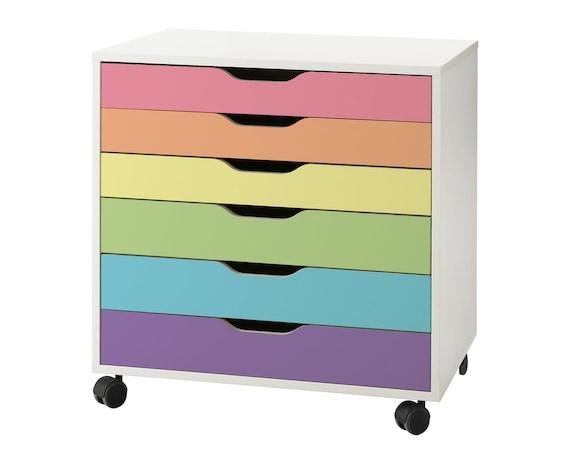 Rainbow IKEA Alex Drawers Hack in