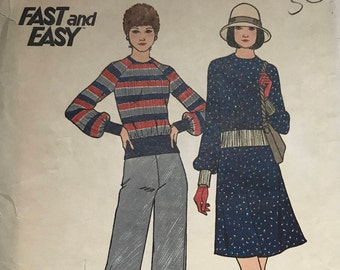 Vintage 70s Butterick 3369 Sewing Pattern Size 12 Bust 36 / Uncut Sewing Pattern