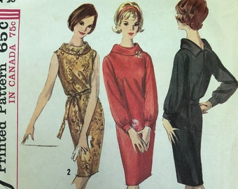 Vintage Simplicity 5625 Complete Sewing Pattern / 60s Shift Dress Size 16 Bust 36