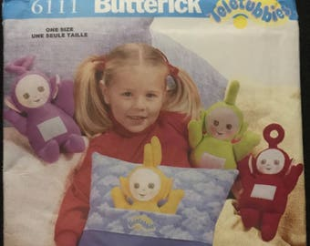 Vintage Butterick 6111 Teletubbies Pillow and Doll Craft Pattern Uncut 1999
