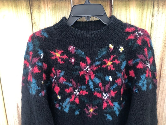 Vintage 80s Mohair Wool Sweater By LL Bean Size L… - image 4