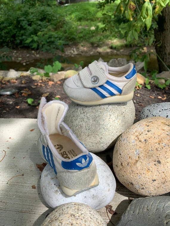 Vintage Baby Adidas Tennis Shoes Size 2 / Vintage
