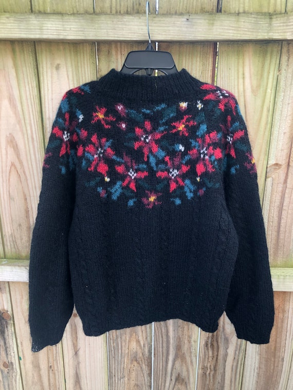 Vintage 80s Mohair Wool Sweater By LL Bean Size L… - image 2