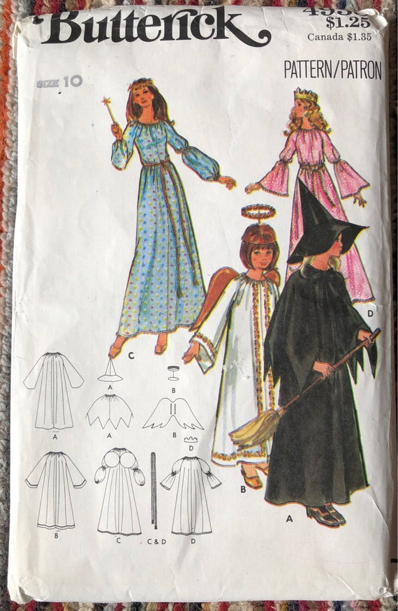 Bintage Butterick 4938 Child\'s Costume Sewing Pattern | Etsy