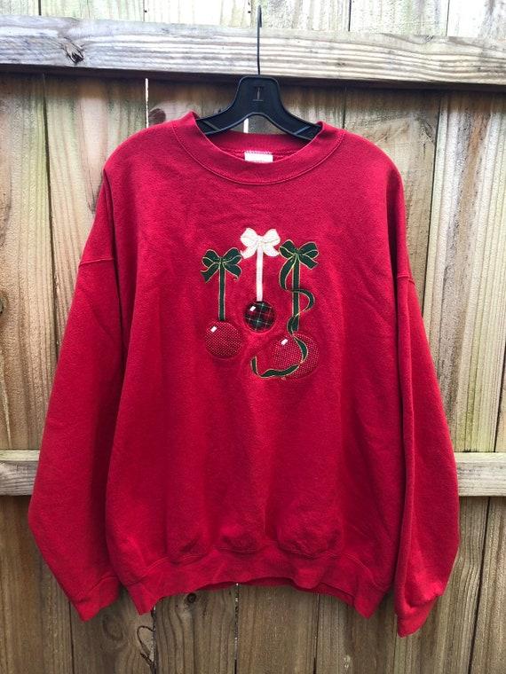 d19600420b0 Vintage 90s Christmas Ornament Sweatshirt   Ugly Christmas