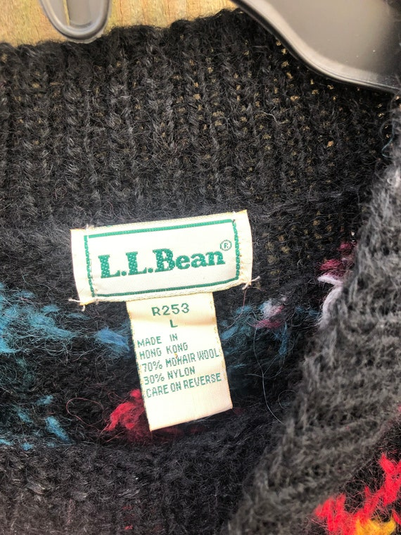 Vintage 80s Mohair Wool Sweater By LL Bean Size L… - image 3