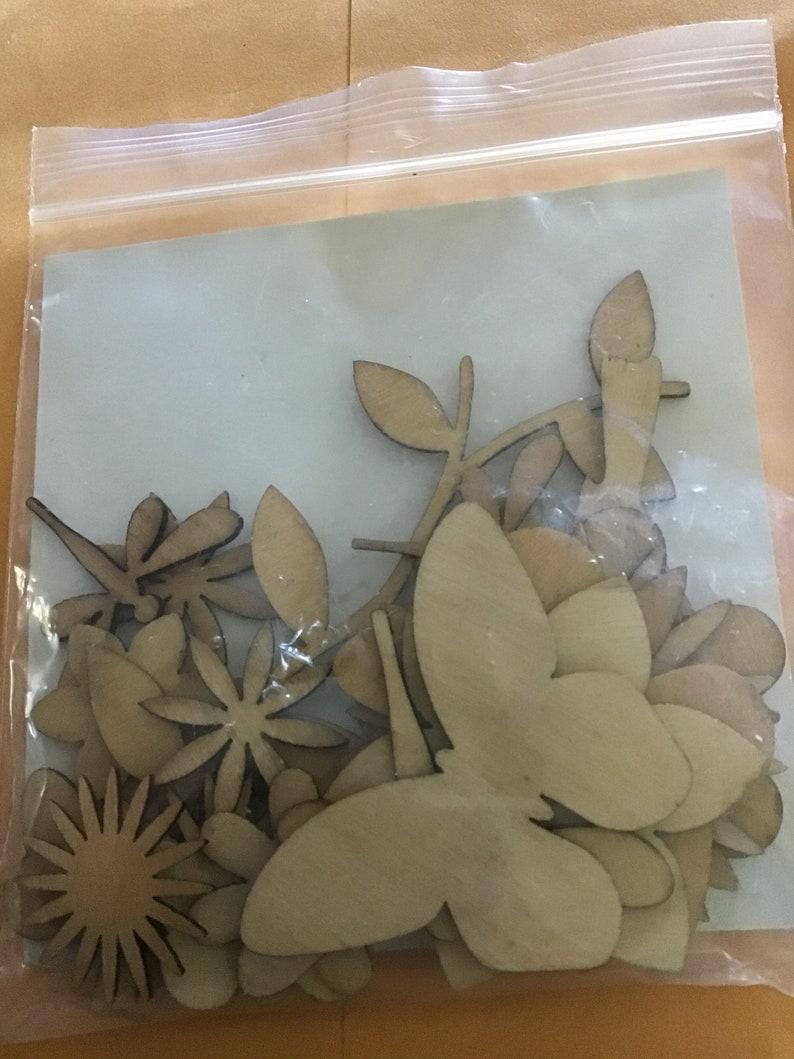 Wood Flower Scrapbook Pack