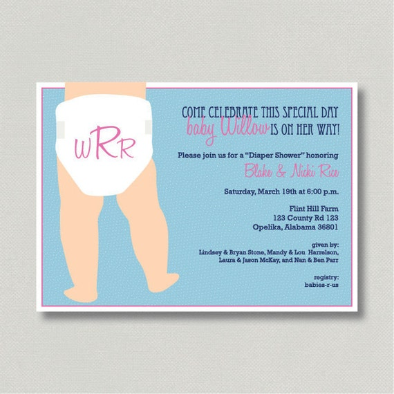 Unforgettable image in free printable diaper party invitation templates