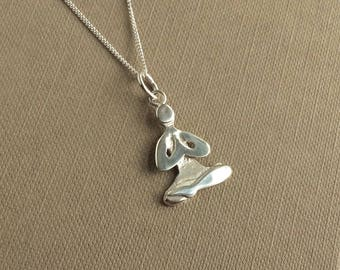 Silver Lotus Yoga Pose Necklace