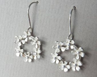 Bouquet Circle Drop Earrings