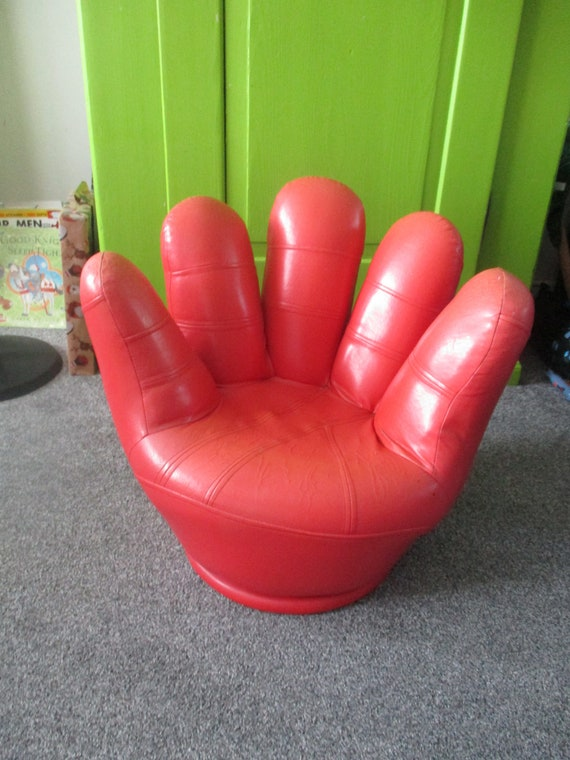 Outstanding Rare Vintage Retro 70S Childs Hand Shaped Swivel Chair 70S Squirreltailoven Fun Painted Chair Ideas Images Squirreltailovenorg