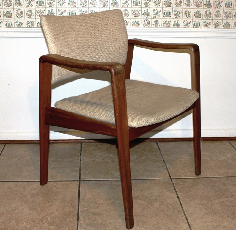 Danish Mid Century Modern Teak Lounge Chair Arm Chair By Etsy