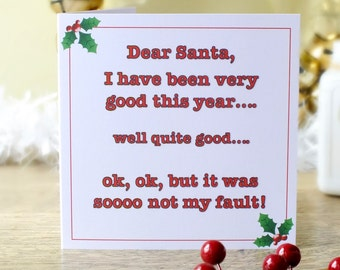 Personalised Funny Christmas Card, Personalized Humour, Adult Holiday Cards, Xmas Card, Merry Christmas Customised, Cards by Gaynor XP01