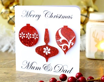 Handmade Personalised Christmas Card, Holidays, Personalized Xmas Card, Wife, Husband, Mum, Dad, Sister, Name, Daughter, Son, Friend BHX02
