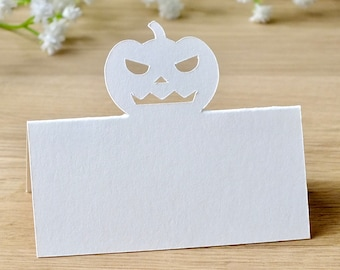 Pumpkin Place Cards - Halloween Wedding Place Cards - Table Seating Guest Name Cards - Set of 10