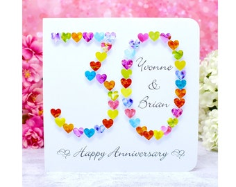 30th Anniversary Card - Handmade & Personalised 30th Wedding Anniversary Card, Our 30 Pearl Wedding Anniversary