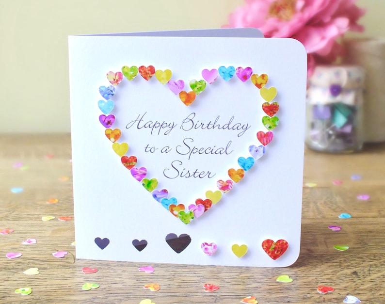 Sister Birthday Card Handmade For