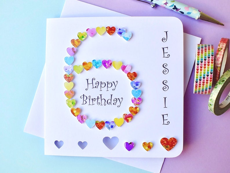 6 Geburtstag Karte Benutzerdefinierte Personalisierte Alter Etsy
