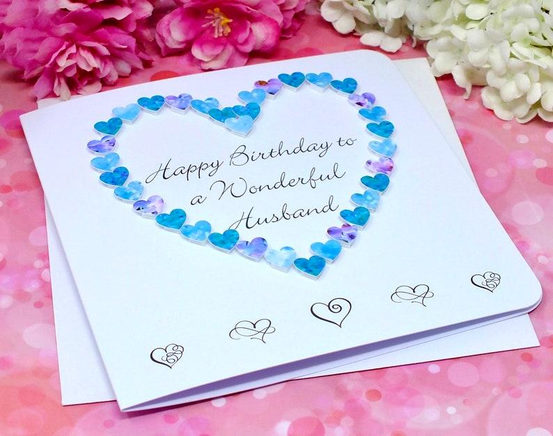 handmade birthday card for husband happy birthday to a  etsy