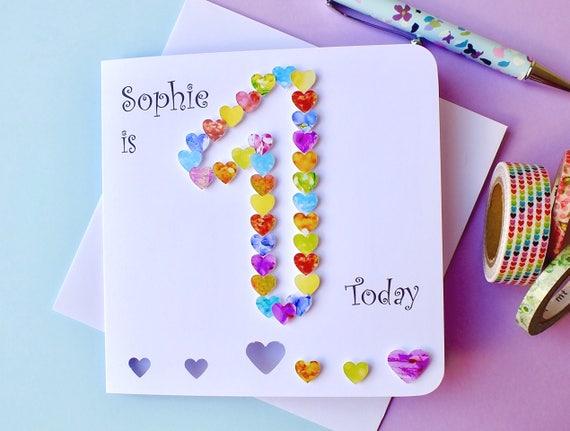 1st Birthday Card Custom Personalised First