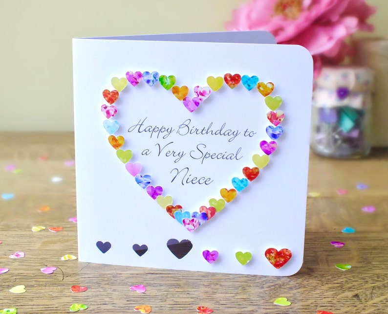 Niece Birthday Card Handmade Birthday Card For Niece Happy