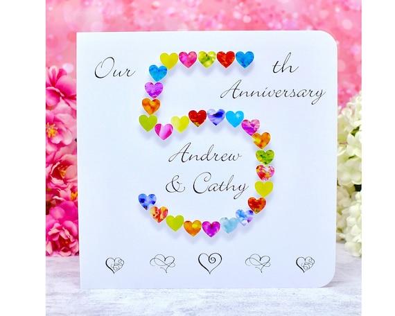 5eme Carte Anniversaire De Mariage Personnalise Notre Carte Etsy