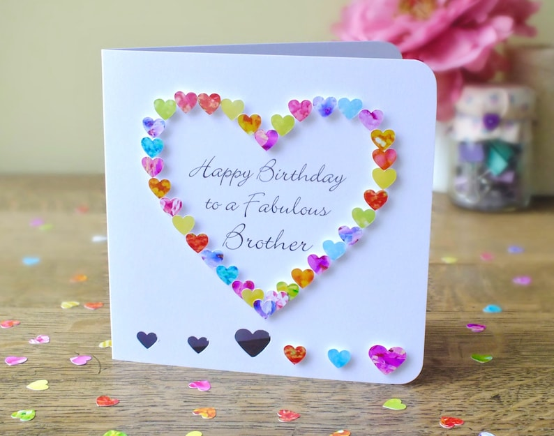 Brother Birthday Card Handmade Personalised