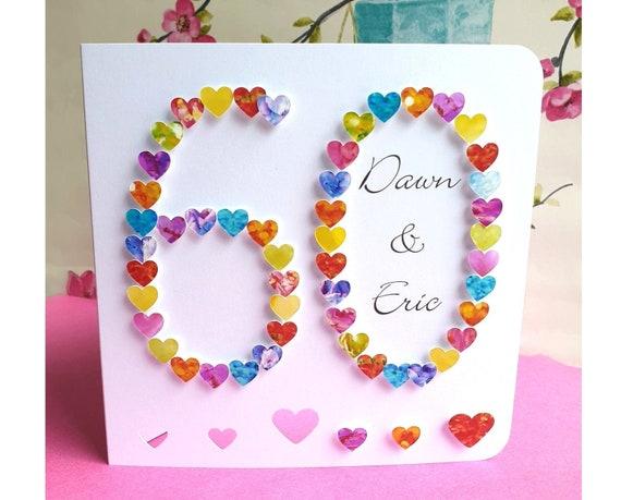 Carte Anniversaire Eric.60e Carte Anniversaire De Mariage Fait A La Main La Carte Etsy