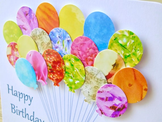 80th Birthday Card Personalised Age 80 Birthday Balloons Card